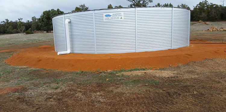 Finished tank pad in Gidgegannup