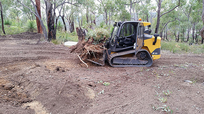 Clearing of vegetation on a bush block